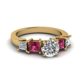 Basket Round Cut Diamond Ring