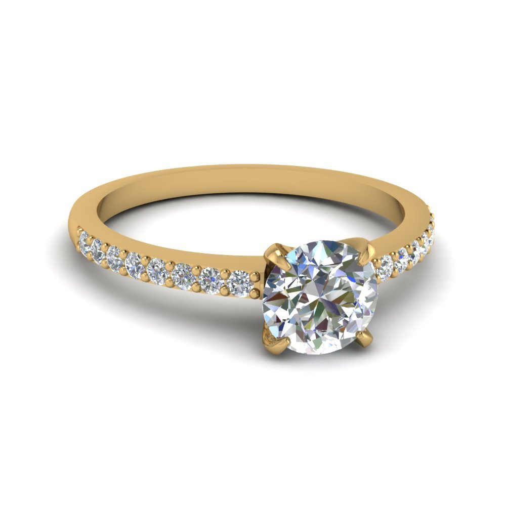 Round Cut Diamond Petite Ring