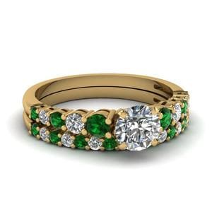 Emerald Ring And Matching Band