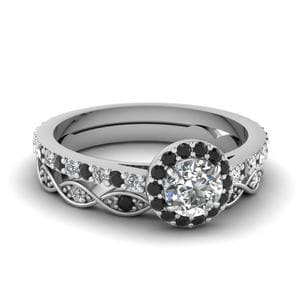 Platinum Mixed And Matched Ring Set