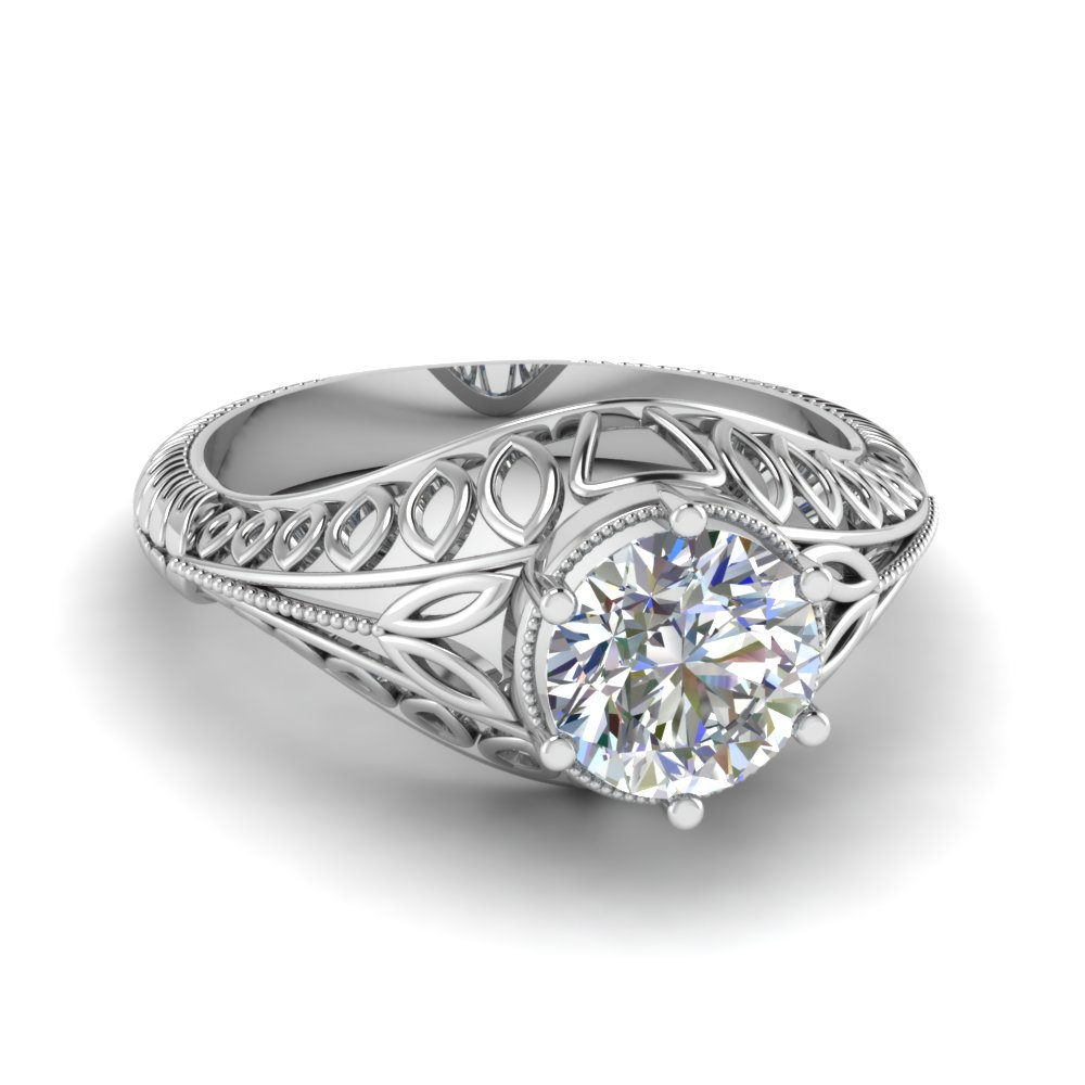 Edwardian Filigree Engagement Ring
