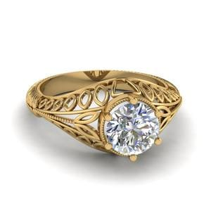 Solitaire Edwardian Filigree Ring