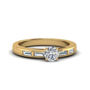 Gold Round Diamond Ring