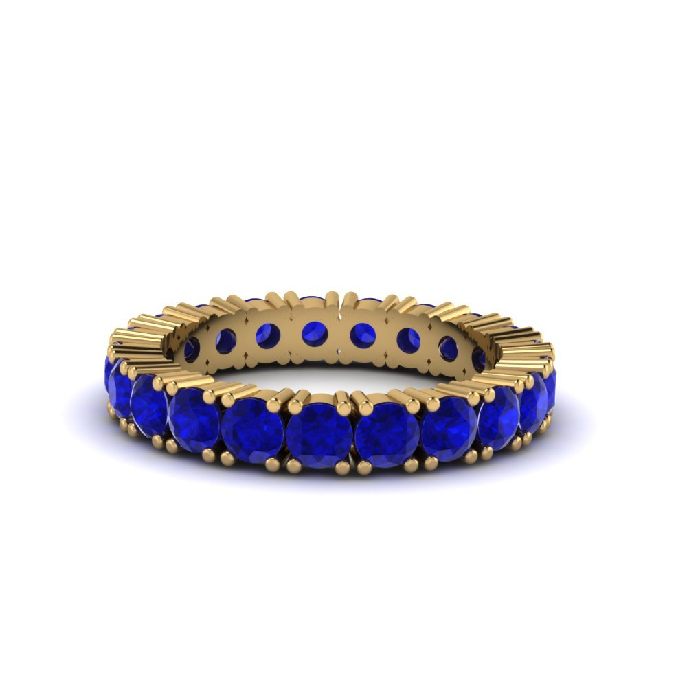 Round Cut Sapphire Eternity Band