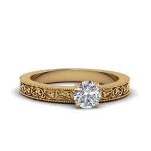 Round Cut Engagement Ring For Women