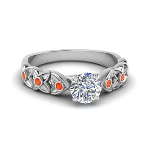 Flower Orange Topaz Ring