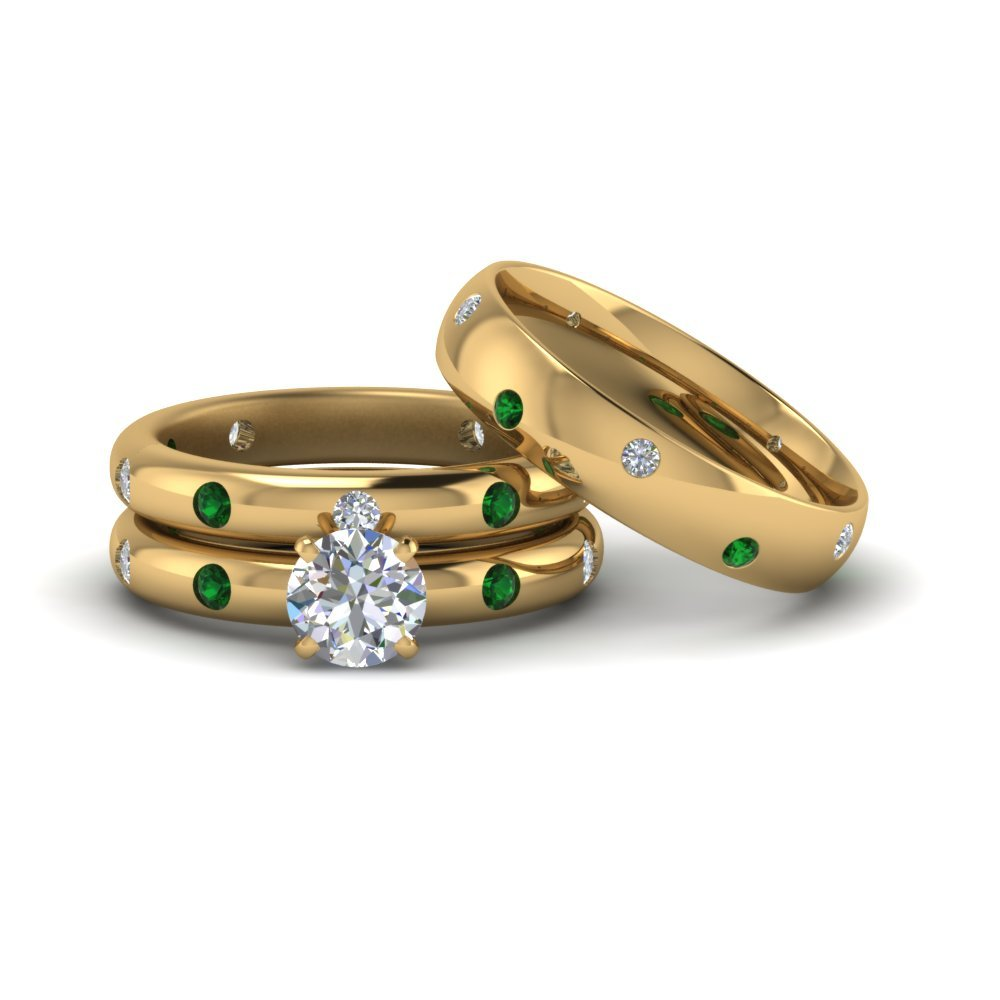 Yellow Gold Wedding Rings For S