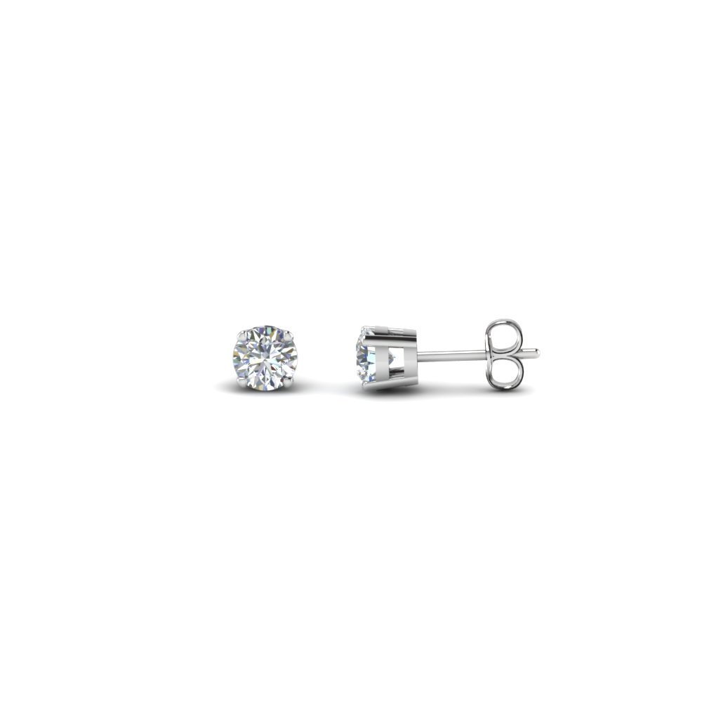 Half Carat Diamond mothers Earrings