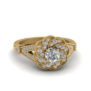 Micropave Halo Flower Ring