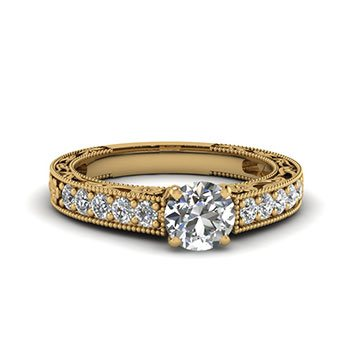 0.75 Ct. Round Cut Diamond Engagement Rings