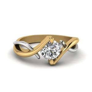 Twist Single Diamond Ring