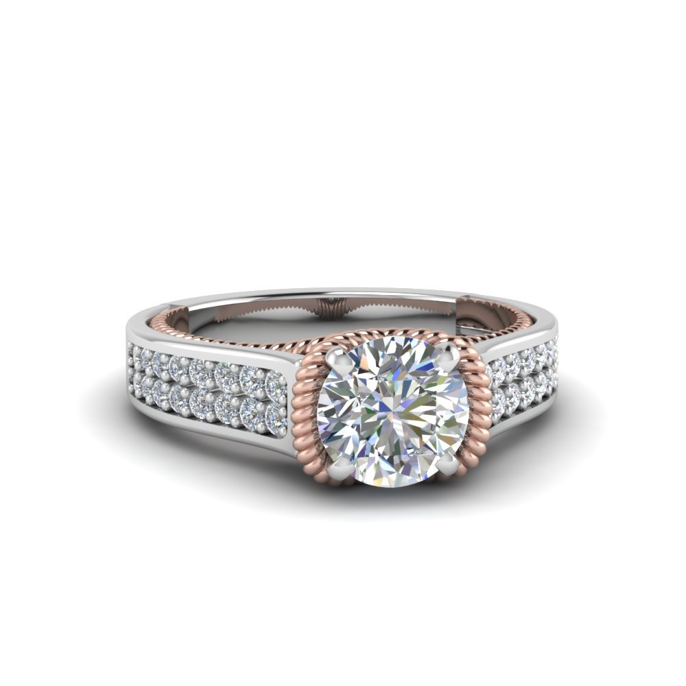 round antique engagement rings