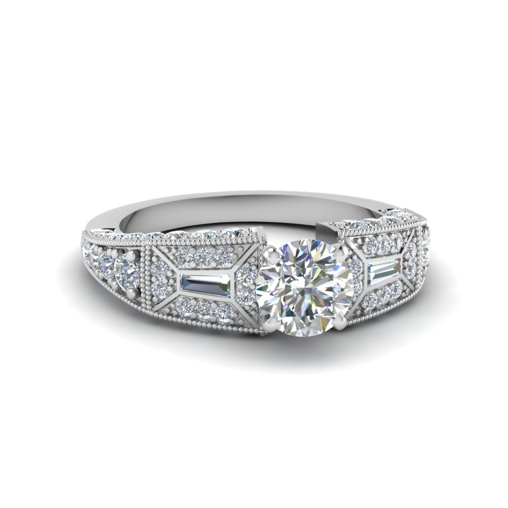 antique platinum engagement rings