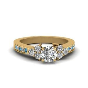 Cluster Pave Round Diamond Ring
