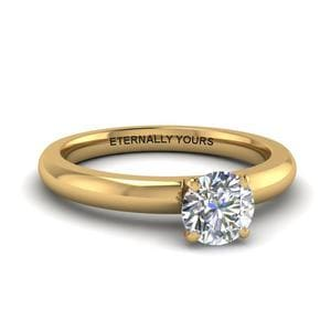 Single Round Cut Diamond Ring