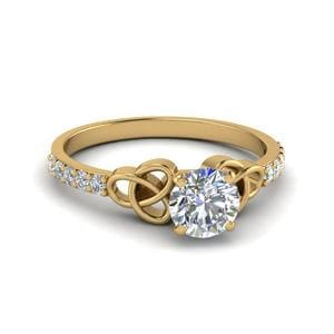 Petite Celtic Round Diamond Ring