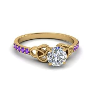 Celtic Purple Topaz Ring