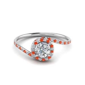 Petite Swirl Orange Topaz Ring