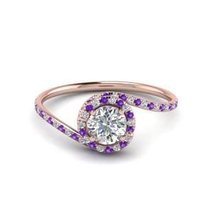 Bypass Purple Topaz Ring