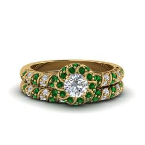 Emerald Ring With Matching Band