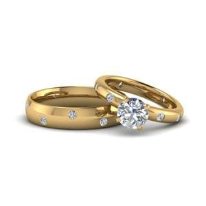His And Hers Matching Diamond Ring