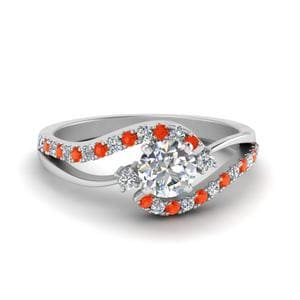 Swirl Orange Topaz Ring