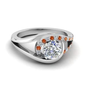 Orange Sapphire Split Ring