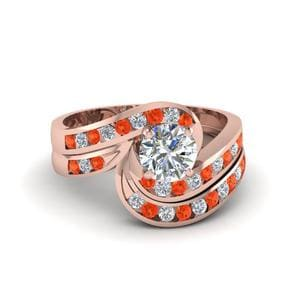 Channel Orange Topaz Bridal Set