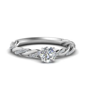 Platinum Twisted Diamond Ring