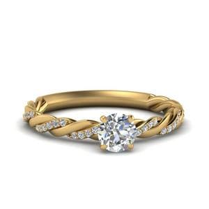 Twisted Delicate Diamond Ring