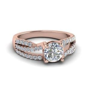 Split Trio Band Diamond Ring