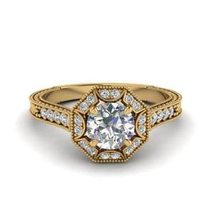 Vintage Pave Halo Diamond Ring