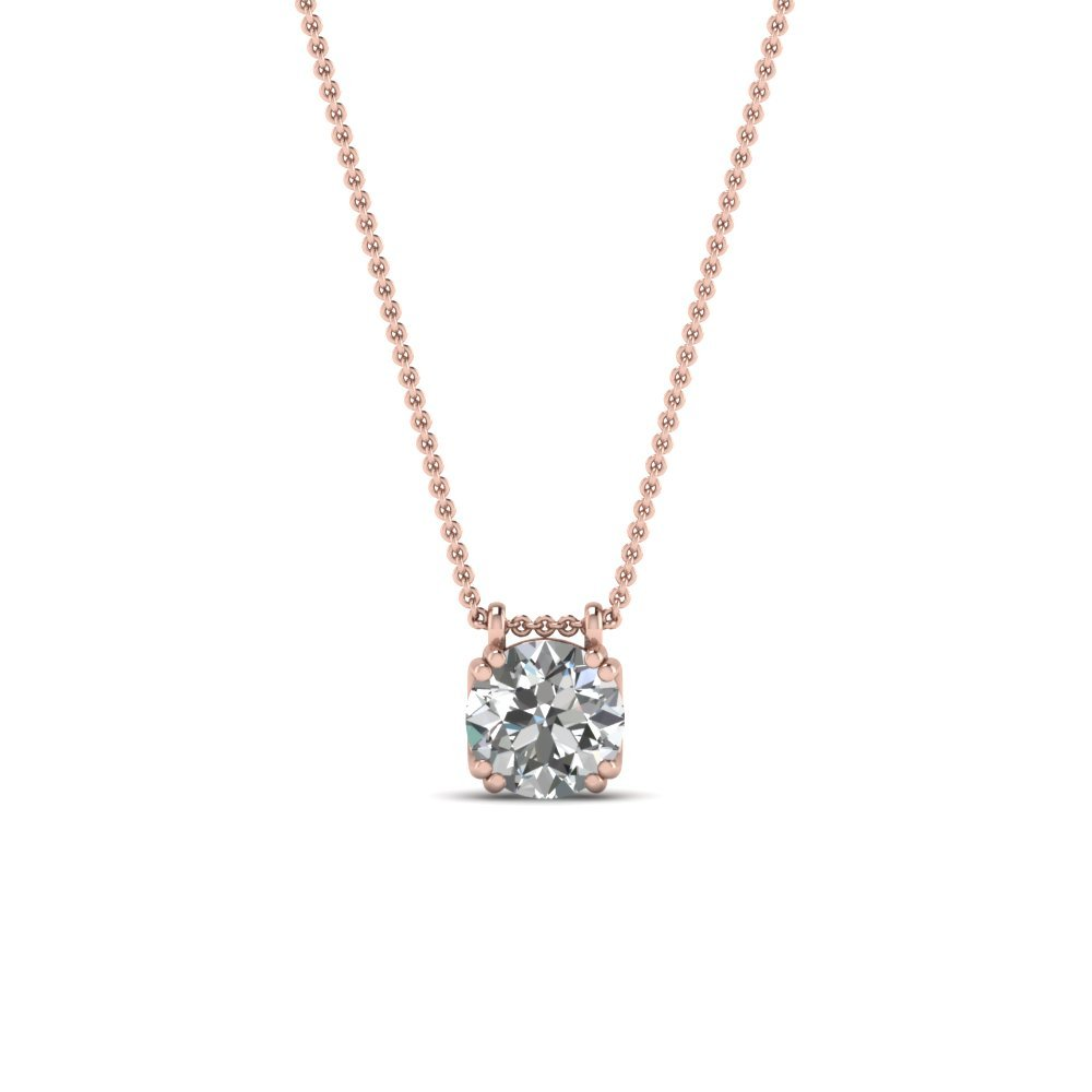 Round Shaped Diamond Pendant 0.50 Ct.