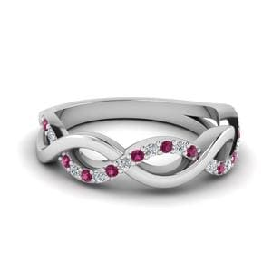 Twisted Pink Sapphire Band