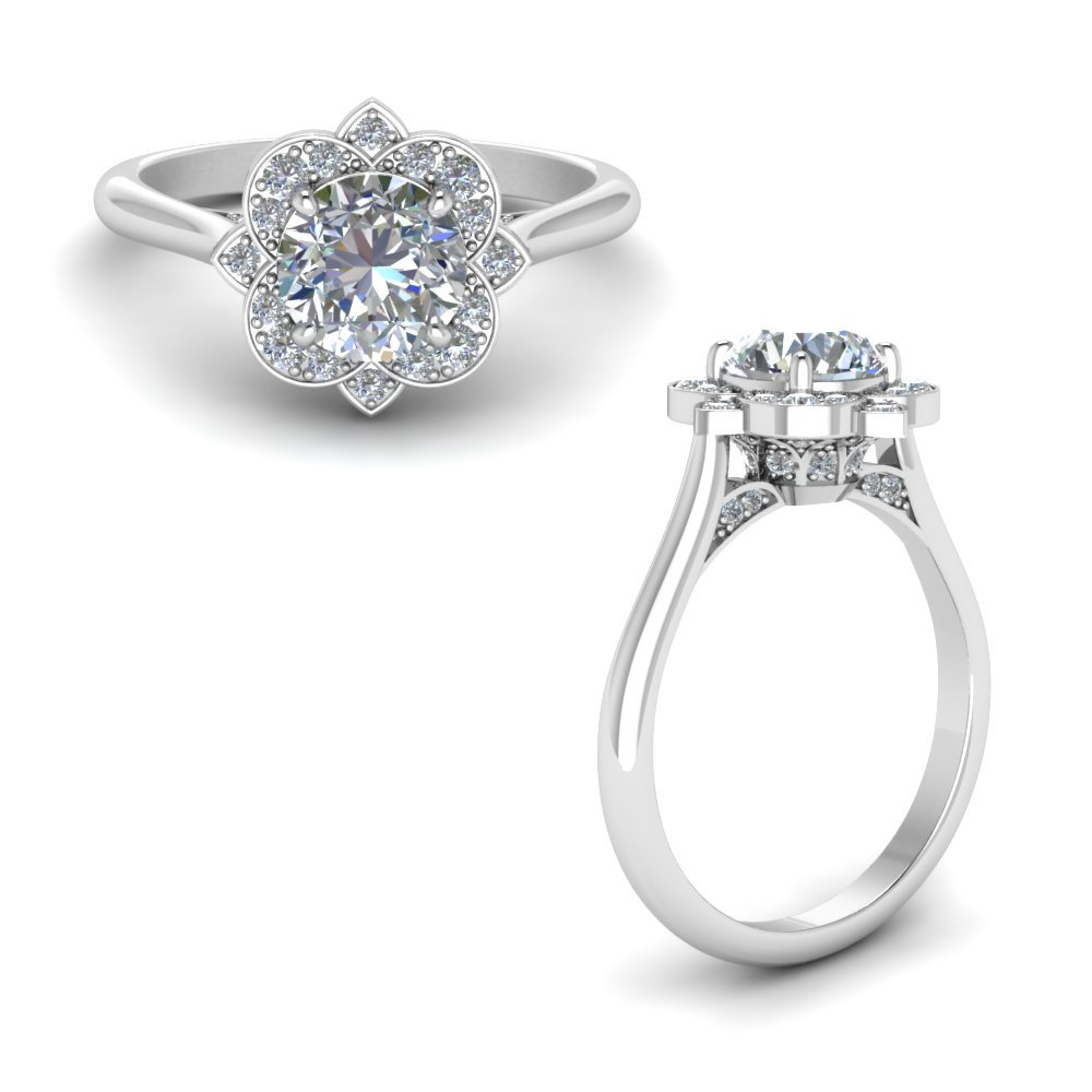 Delicate Flower Diamond Ring