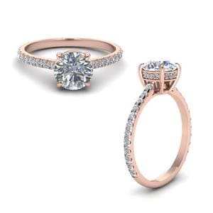 Round Diamond Petite Ring In 14K Rose Gold