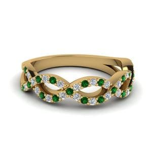 Emerald Infinity Wedding Band