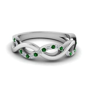 Emerald Infinity Twist Band