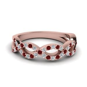 Infinity Twist Ruby Wedding Band