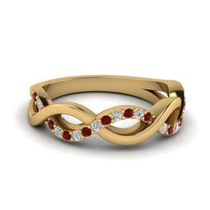 Infinity Twist Band With Ruby