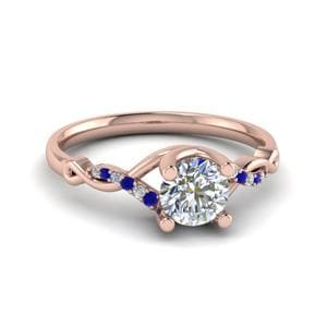 Sapphire Twisted Wedding Ring
