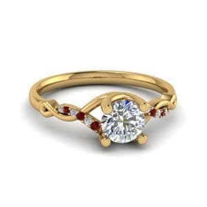 Split Shank Ruby Wedding Ring