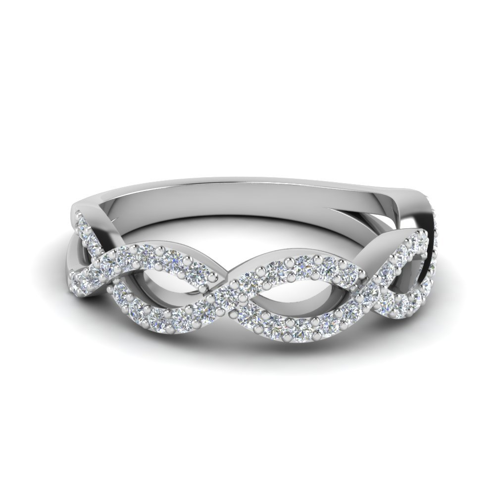 Infinity Twist Wedding Ring
