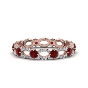 Beautiful Ruby Eternity Ring