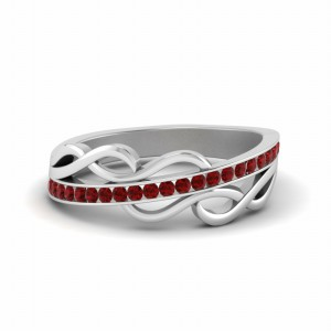 Ruby Channel Set Wedding Band