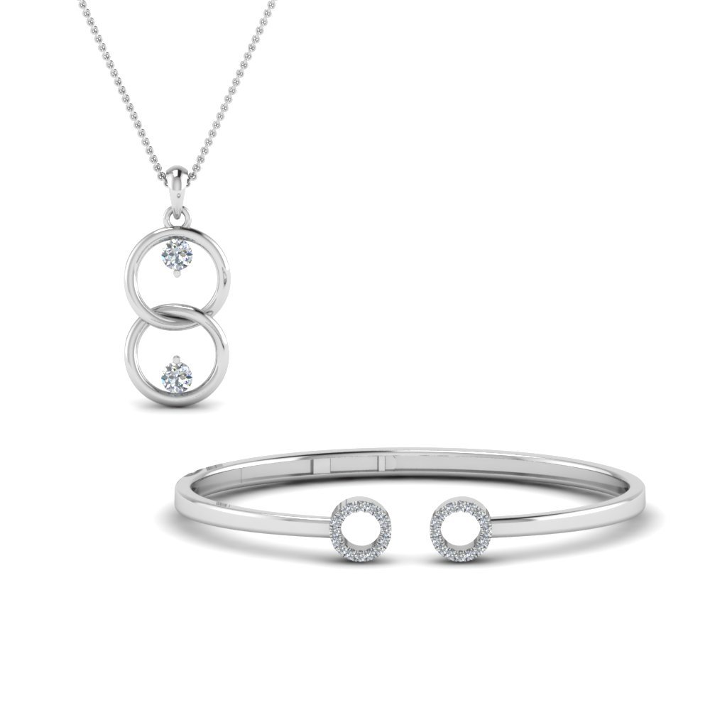 Bangle Bracelet And Diamond Pendant