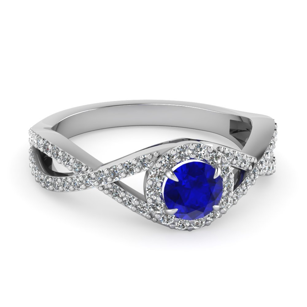 Sapphire Traditional Engagement Split Ring
