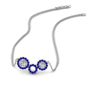 Sapphire Sterling Silver Pendant