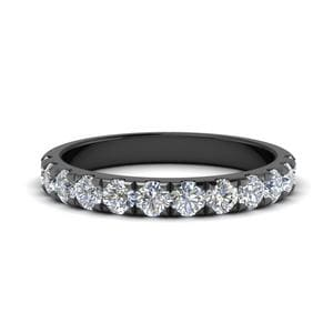 0.75 Ct. Round Diamond Black Band