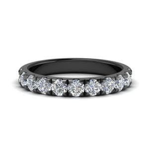 Diamond Black Gold Half Band